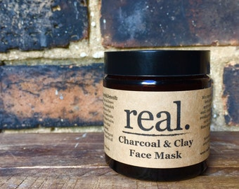 Charcoal & Clay Face Mask, Detox Mask, Activated Charcoal Mask