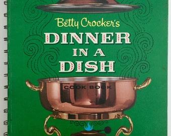 1965 Betty Crocker's Dinner in a Dish Cookbook- First Edition