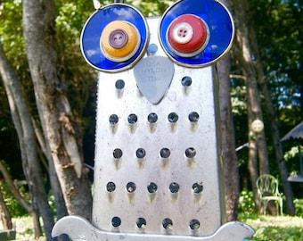 Repurposed Recycled Owl Humphrey Hootenanny