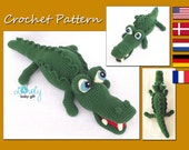 Amigurumi Pattern, Alligator, Crocodile Crochet Pattern, CP-132