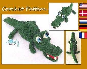 Amigurumi Pattern, Alligator, Crocodile Crochet Pattern, CP-132