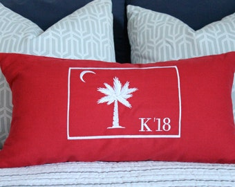 The Citadel College Big Red Pillow Cover - Citadel Gift - Personalized Citadel Gift - Citadel Graduation Gift - Alumni Gift - Charleston, SC