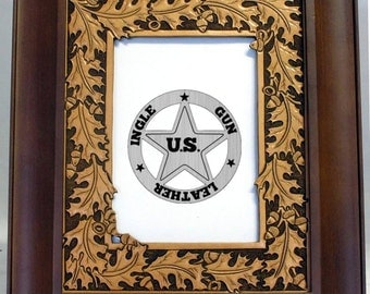 Leather Picture Frame, Hand Made