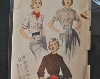 Vintage Advance Blouse Pattern - Size 14