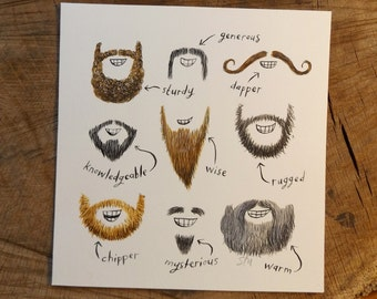 Beards - Original Illustration