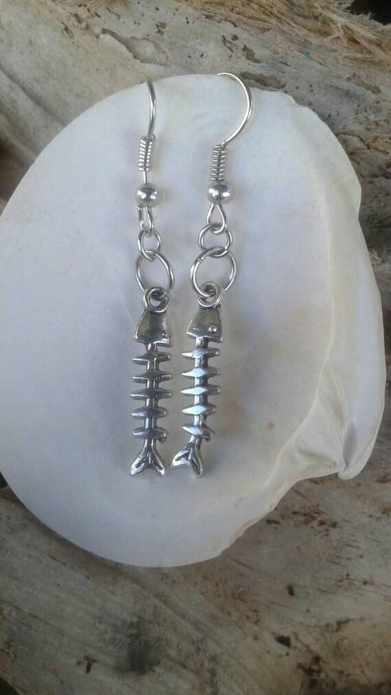 Fish bone earrings by surfandsunboutique on etsy for Fish bone earrings
