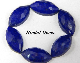10 Pieces Wholesale Lot Lapis Lazuli Marquise Shape Rose Cut Gemstone For Jewelry
