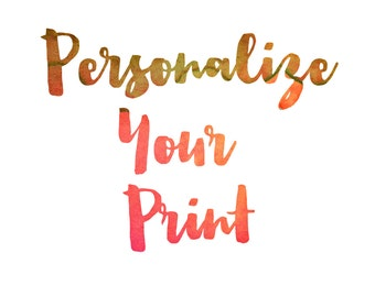 Personalize Any Print