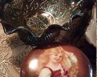 Antique Fenton Carnival Bowl