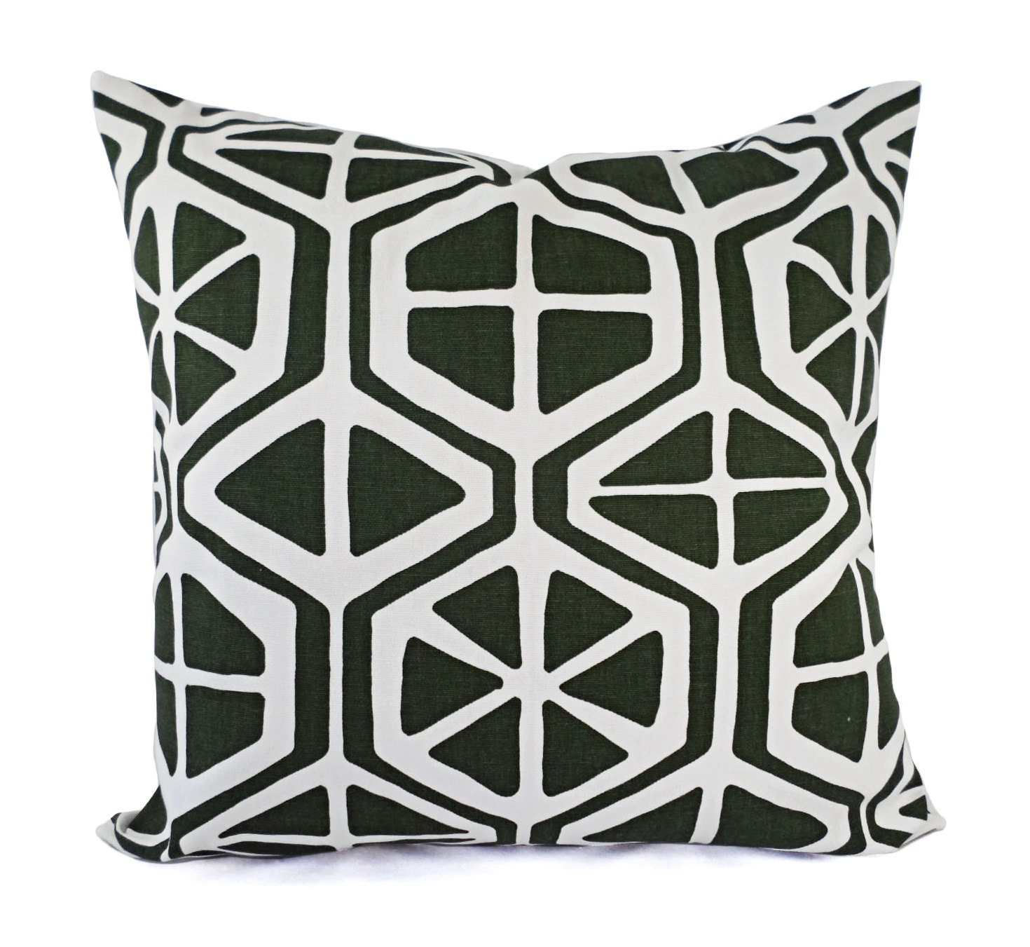 CLEARANCE One Green Decorative Pillow Cover Forest Green and