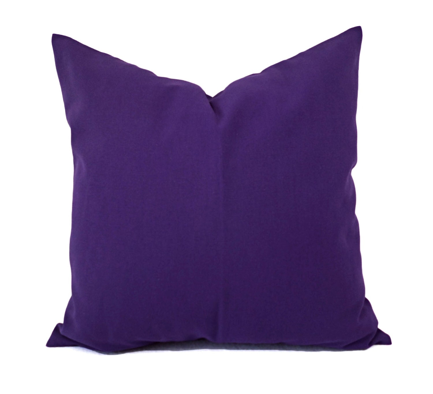 Solid Purple Decorative Pillows : Two Solid Purple Pillow Covers Purple Couch Pillow Covers