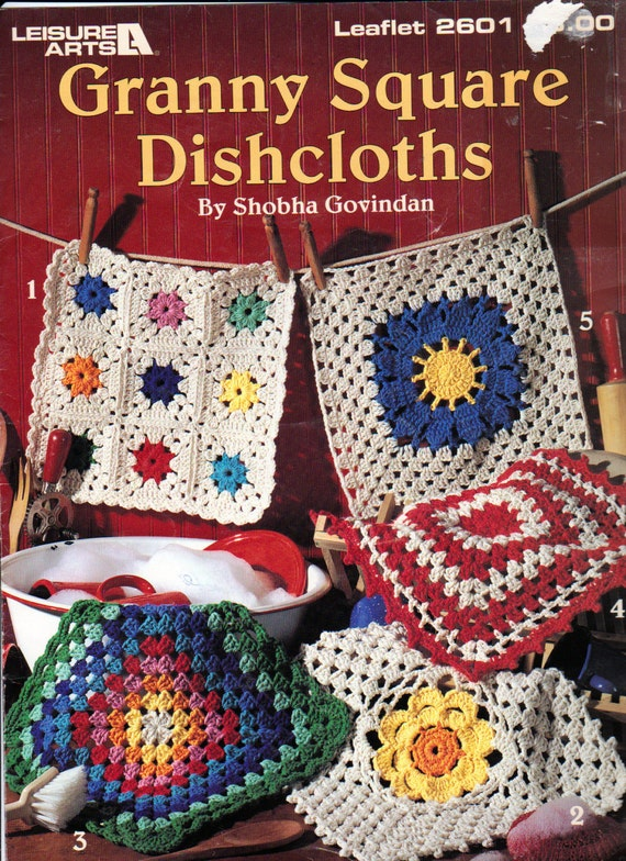 Crochet Granny Square Dishcloth Pattern : Granny Square Dishcloths Crochet Dishcloth Patterns Leisure