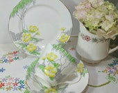 Vintage St Michael Teacup Trio 1930s. Old Marks and Spencers tea cup, saucer and plate. TT040.