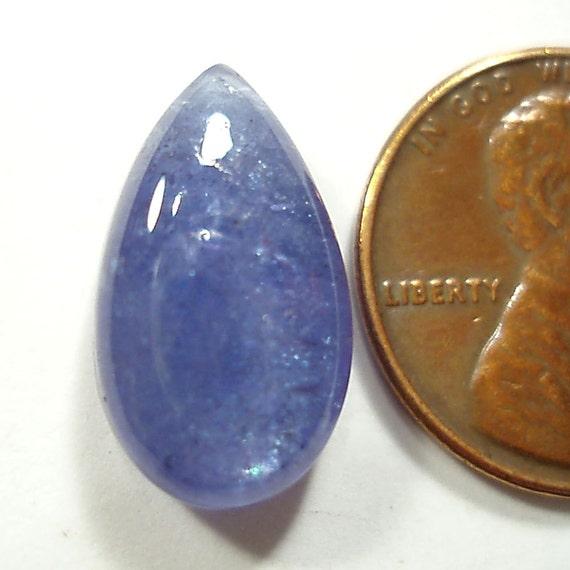 Teardrop Tanzanite: TANZANITE Teardrop Or Pear Cut Cabochon Gemstone 8.38 Carats