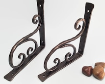 Shelf bracket classical with scroll wrought iron hand forged (cl-2)