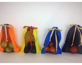 Produce Sack - Sport Nylon, Veggie Bag, Produce Sack, Fruit Bag