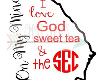 GEORGIA On My Mind SVG SEC Cut File Silhouette