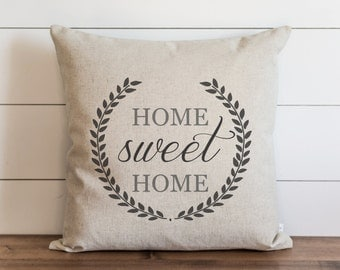 Home Sweet Home 20 x 20 Pillow Cover // Housewarming Gift // Throw Pillow // Cushion Cover // Gift for them // Accent Pillow