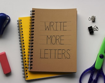 Write More Letters - 5 x 7 journal