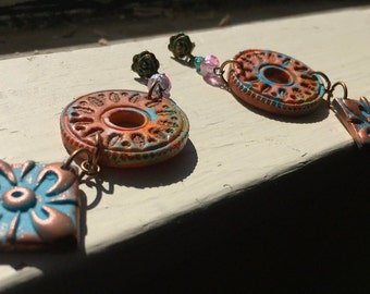 My Tribe Weathered and Rusted earrings