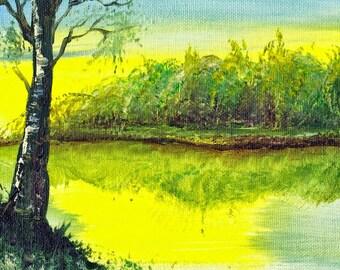 Yellow skies- landscape print