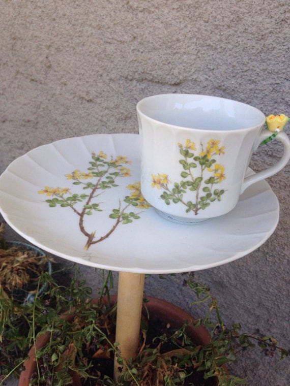 1940s vintage desert plate & cup