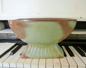 Mid Century, Frankoma, Prairie Green, Matte Glaze, Planter, Vase