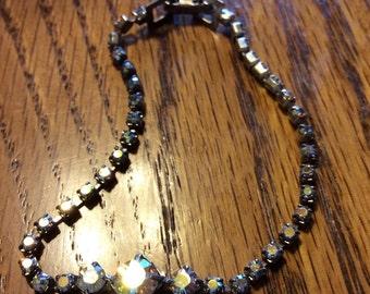 Single Strand Vintage Rhinestone Bracelet