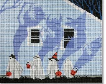 Needlepoint Handpainted Halloween SCOTT CHURCH Candy Monster -Free US Shipping!!!
