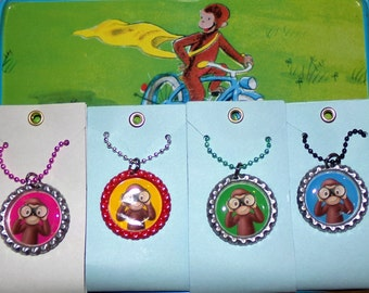 Curious George Monkey Binocular Ball Chain Colorful Necklaces