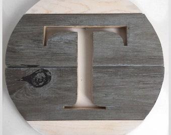 "16"" Monogram Wood Round"