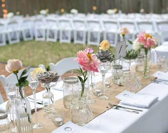 Burlap Table Runner - Jute Table Runner, Rustic Natural Table Runner - Wedding / Event Supplies