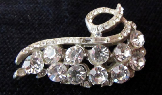 Rhinestone brooch or pin