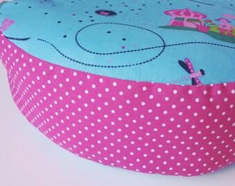 sweet floor cushions seat cushion 30 cm Princess Princess pink turquoise points
