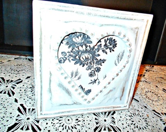 Carved Wood Heart Picture Frame