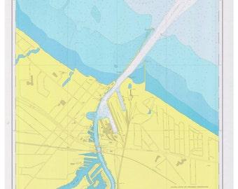Lake Erie - 1973 - Huron Harbor, Ohio - Nautical Map Reprint  - Great Lakes #3 - 363