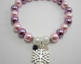 Snowflake Stretch Charm Bracelet