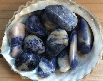 Sodalite Small Healing Stone, Healing Crystal, Spiritual Stone, Meditation, Tumbled stone, Chakra Stone