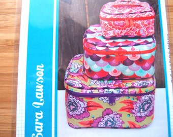 Bag Purse Sewing Pattern - Crimson & Clover Train Cases Sewing Pattern - Sew Sweetness - Printed Sewing Pattern