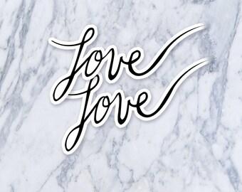 Love Small Calligraphy Cursive Handwriting Fake Temporary Tattoo