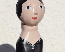 French Mannequin Head Bust - Milliner Head -Tête de Mannequin - Marotte - Hat Display