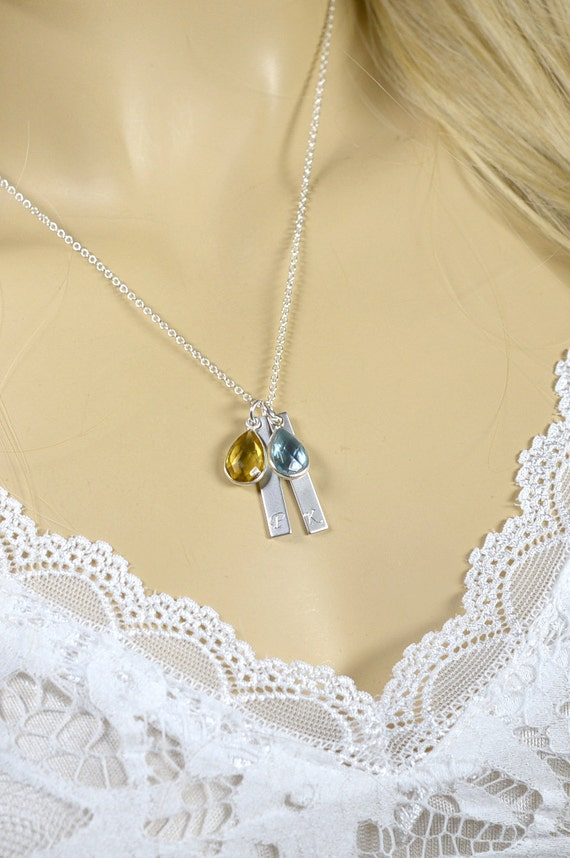 mothers day birthstone necklace personalized by