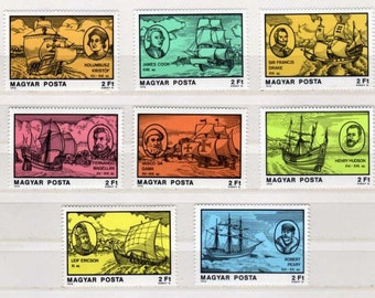 Lot SHIP Stamps, Boat Stamps, Unused Stamps, Nautical Stamps, Ship Postage Stamps, Hungary Postage Stamps,Boat stamps, Stamp Collection