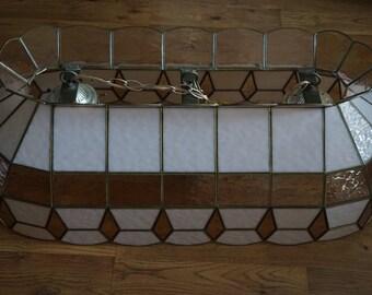 Vintage, Pool/Billard Table Stained Glass Light Fixture