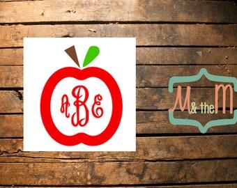Apple Monogram- 8-inch for Graduation Cap