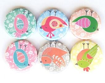 Birdie Magnets, Refrigerator Magnets, Birdies Magnets, Fridge Magnets, Premium Birdies Magnets, Cute Birdies Magnets, Birdies, Set of 6