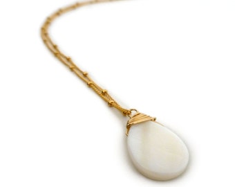 Sheherazade Mother of Pearl Pendant Necklace