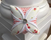 Cathedral Window Pincushion - Modern Pincushion - Pin Cushion - Ruby by Bonnie and Camille - White and Pink