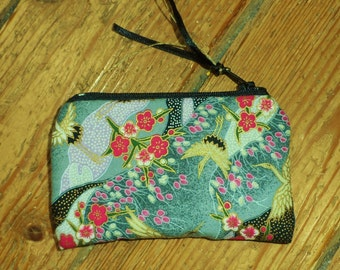 Promotion Pretty 100% hand-sewn Japanese cotton zipped purse.