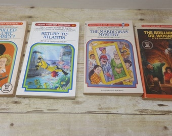 Choose your Own Adventure, Set of 4, vintage kids books, young readers
